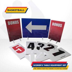 Scorers table set